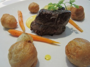 Roasted Beef Tournedos, Pommes Dauphines and Béarnaise Sauce
