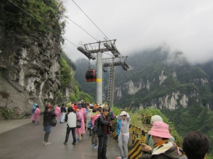 view of the hills, with cable car