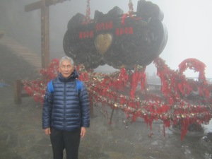 the summit, with the key to heaven, but too foggy to find the door