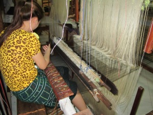 Ladies sitting whole day in their weaving