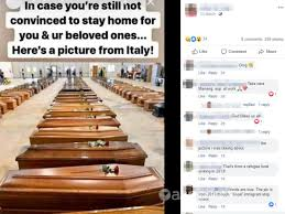 Italy's COVID-19 situation is dire but a photo of coffins is not ...